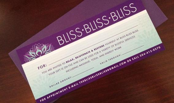Bliss Gift Certificate
